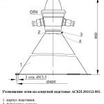 Размещение огня на конусной подставке АСКИ.301113.001.