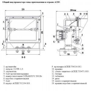 Общий вид прожектора зоны приземления и отрыва АС05