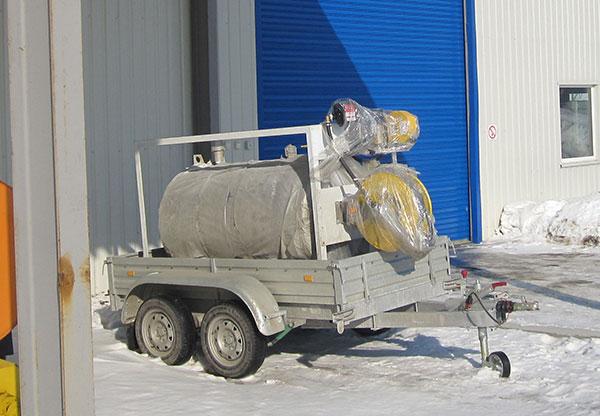 Передвижной пункт хранения и выдачи авиационного топлива