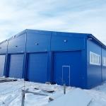 Быстровозводимый утепленный ангар (гараж) для аэродромной техники на 8 машиномест (г. Екатеринбург)