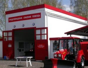 Пожарное депо построенное на территории ВНИИПО МЧС России