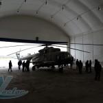 Утепленный каркасно-тентовый ангар для хранения и обслуживания вертолета МИ-8 (г. Екатеринбург)