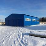 Быстровозводимый утепленный ангар (гараж) для аэродромной техники на 8 машиномест (г. Балабаново)